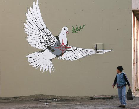 Banksy - Targeted Dove