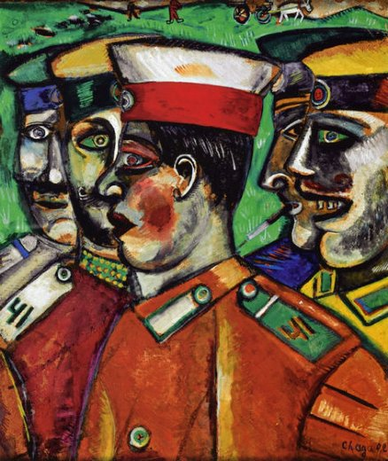 Chagall - Soldiers