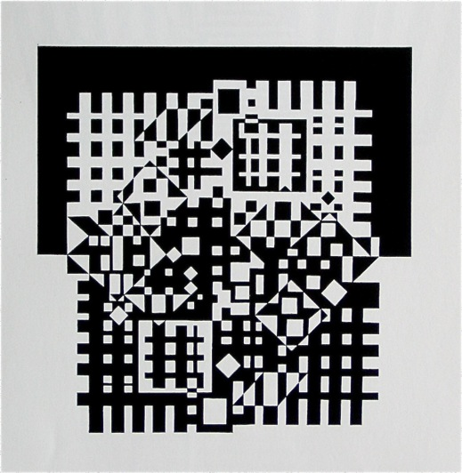 Vasarely-BlkWhSqs