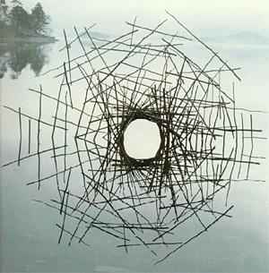 Land art (sculptures parfois éphémères) Goldsworthy