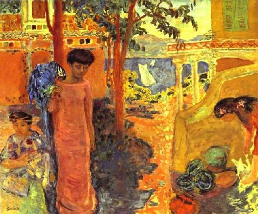 Pierre Bonnard - Girl with Parrot