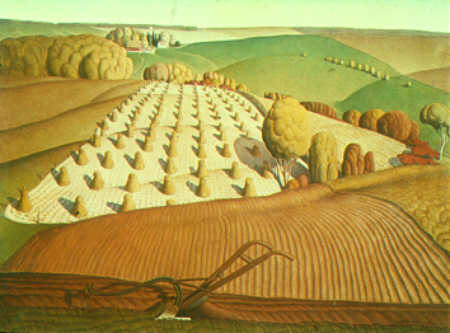 Grant Wood-Fall Plowing